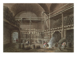 The Baths of Julian at the Hotel De Cluny, 1809 (Aquatint) Giclee Print by John Claude Nattes