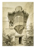 Cairo: House Called Beyt El-Emyr (A Little Dilapidated), 19th Century (Colour Litho) Reproduction proc&#233;d&#233; gicl&#233;e par Emile Prisse d&#39;Avennes