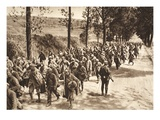 French Prisoners on the Road Between Soissons and Fismes During the Battle of the Aisne, 1918 Giclee Print by  German photographer