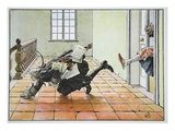 Dr. Aprill, with the Imperial Ban, 14th October 1757 (Colour Litho) Giclee Print by Richard Knoetel