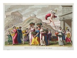 Mercury Falls in Love with Herse, Illustration from Ovid's Metamorphoses, Florence, 1832 Giclee Print by Luigi Ademollo