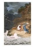 Two Early Regency Belles Caught on a Foreshore by a Storm, Engraved by Joseph Constantine Stadler Giclee Print by James Green
