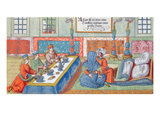 Marriage Scene, from a Manuscript on the Ottoman Empire, C.1600 (W/C on Paper) Giclee Print by  German