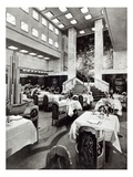 Dining Room on the Ocean Liner 'Ile De France', 1926 (B/W Photo) Giclee Print by  French Photographer