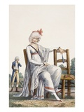 Lady's Promenade Dress, 1800 (Coloured Engraving) Giclee Print by Philibert Louis Debucourt