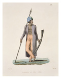 Warrior from the Island of Guebe, from &#39;Voyage Autour Du Monde (1817-20)&#39; Giclee Print by Jacques Etienne Victor Arago
