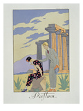 Paestum, 1924 (Pochoir Print) Giclee Print by Georges Barbier