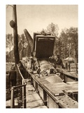 Fast Loading Rail Mounted Cannon (B/W Photo) Giclee Print by  German photographer