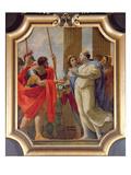 Polydamne Giving Menelaus and Helen the Medicines Enula Campana and Moly Giclée-Druck von Simon Vouet