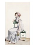 Robe Chemise, Illustration from 'Journal Des Dames Et Des Modes', 1799 (Coloured Engraving) Giclee Print by Pierre de La Mesangere