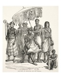 The King of Ashantee and His Guards (Litho) Giclee Print by  English