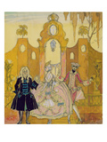 Billet Doux' (Pen and Ink and W/C on Paper) (See also 133201) Giclee Print by Georges Barbier