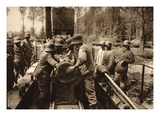 The 38Cm Grenade Is Loaded into its Tube (B/W Photo) Giclee Print by  German photographer