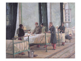 A Visit to the Philippeville Hospital in 1880 (Oil on Canvas) Giclee Print by Armand Point