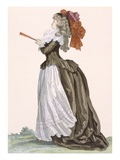 Lady's Promenade Dress, Engraved by Dupin, Plate No.222 Giclee Print by Francois Louis Joseph Watteau
