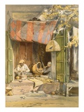 Delhi - Jeweller, from 'India Ancient and Modern', 1867 (Colour Litho) Giclee Print by William 'Crimea' Simpson