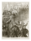 Arrest of the Archbishop of Paris, March 1871 Giclee Print by  French