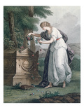Virtue Pays Homage at Rousseau's Tomb, Ermenonville (Tombeau De Jean Jacques Rousseau), 1866 Giclee Print by  French