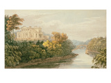 The Seat of G.B. Greenough Esq., Regent's Park, from Ackermann's 'Repository of Arts' Giclee Print by  English