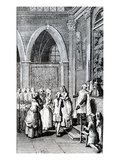 Obedience, Illustration from 'La Vie De Mon Pere' by Restif De La Bretonne (Engraving) Giclee Print by  French