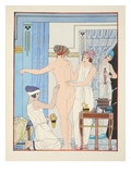 Medical Massage, Illustration from 'The Works of Hippocrates', 1934 (Colour Litho) Giclee Print by Joseph Kuhn-Regnier