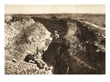English Trench Between Bapaume and Arras (B/W Photo) Giclée-Druck von  German photographer