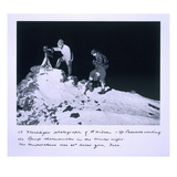 A Flashlight Photograph of Dr Wilson and Lt Bowers Reading the Ramp Thermometer Giclee Print by Herbert Ponting
