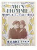 Mon Homme', Cover of Score of Song by Mistinguett and Harry Pilcer, 1920 (Colour Litho) Giclee Print by  French