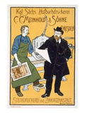 Pster Advertising C. C. Meinhold and Sons Lithographers, Dresden (Colour Litho) Giclee Print by Hermann Behrens