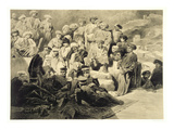 Military Meal in the Ruins at Sioukh, Dagestan, Plate 69 Giclee Print by Grigori Grigorevich Gagarin