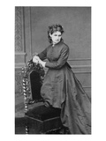 Berthe Morisot, 20th February 1869 (B/W Photo) Giclee Print by Pierre Petit