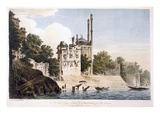 Benares on the Ganges, 1787 (Aquatint) Giclee Print by William Hodges