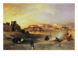 An Indian Pueblo, 1905 Giclee Print by Thomas Moran