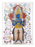 Wiebesana Dewa Raja, the Four Hill Guards, from 'The History and Doctrine of Buddhism' Giclee Print by  English