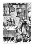The Receiver of Taxes, after a Woodcut in 'Praxis Rerum Civilium' by Joos De Damhouder (1507-81) Giclee Print by  Dutch