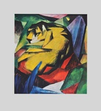 The Tiger (hand-made paper) Collectable Print by Franz Marc
