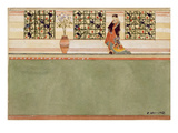 Anglo-Japanese Wall Design, C.1860 (W/C and Pencil on Paper) Giclee Print by Edward William Godwin
