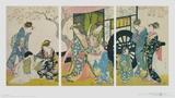 Leave of the Beauty before Driving with the Vehicl Posters av Kitagawa Utamaro