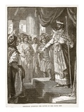 Rehoboam Accepting the Advice of the Young Men (Litho) Giclee Print by  English