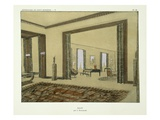 Salon, from 'Repertoire of Modern Taste', Published 1929 (Colour Litho) Giclee Print by Jacques-emile Ruhlmann