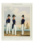 Pursers and Captain's Clerk, Plate 7 from 'Costume of the Royal Navy and Marines' Giclee Print by L. And Eschauzier, St. Mansion