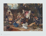 Behind the Curtain Collectable Print by Ludwig Knaus