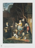 The Poultry Vendor, Young Woman Collectable Print by Gabriel Metsu