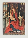 The Virgin and Child Enthroned Collectable Print by Hans Memling