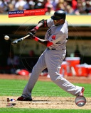 David Ortiz hits his 400th career home run at O.co Coliseum on Saturday, July 4, 2012 with Overlay Photo