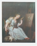 Girl with a Spindle Collectable Print by Jean-Baptiste Greuze