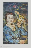 Lady with a Parrot Collectable Print by Oskar Kokoschka