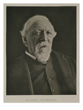 Portrait of Robert Browning (1812-89), C.1889 (B/W Photo) Giclee Print by Eveleen Myers