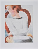 White Youth (hand-made paper) Collectable Print by Oskar Schlemmer