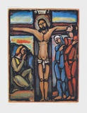 Christ on the Cross Collectable Print by Georges Rouault